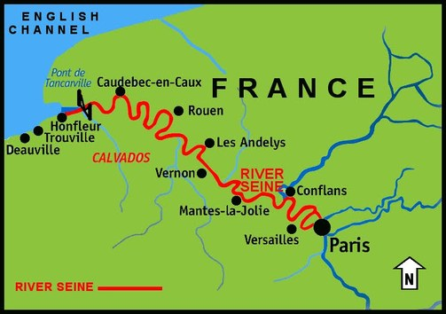 Physical Characteristics All About The Seine France - World map seine river